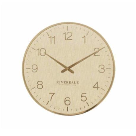Riverdale Orologio da parete Ritz in metallo dorato Ø40cm