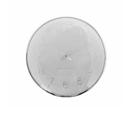 Riverdale Orologio da parete Ritz in metallo argentato Ø40cm