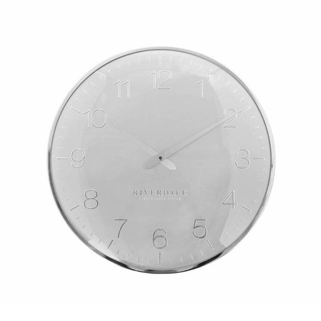 Riverdale Wanduhr Ritz Silber Metall Ø40cm