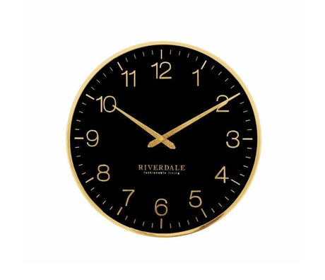 Riverdale Reloj de pared Ritz metal negro Ø40cm.