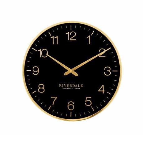 Riverdale Horloge murale Ritz Ø40cm en métal noir