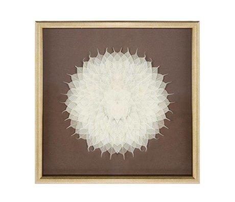 Riverdale Gemälde Blume Champagner 70x70x6cm