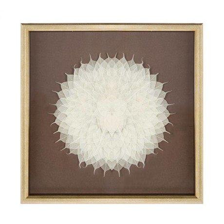 Riverdale Maleri blomsterkampagne 70x70x6cm