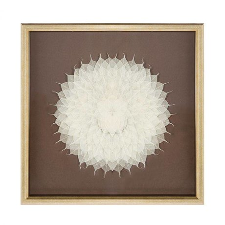 Riverdale Painting flower champagne 70x70x6cm
