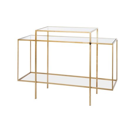 Riverdale Sideboard Amaro gold metal glass 37x120x88,5cm