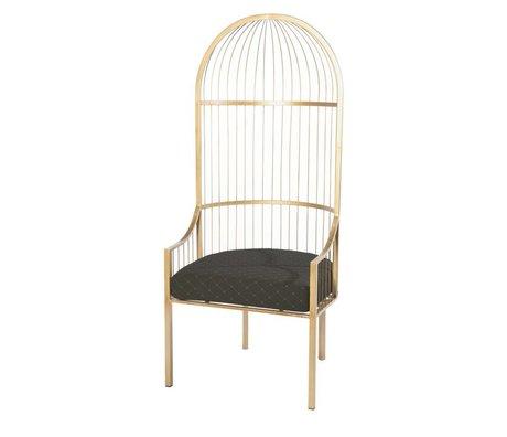 Riverdale Chair Amaro gold metal 65x68,5x160cm