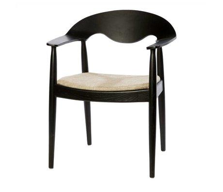 Riverdale Dining chair oeden black beige textile 81cm
