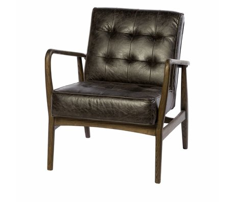 Riverdale Armchair Walton anthracite gray leatherwood 80cm