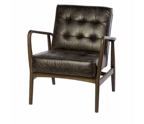 Riverdale Fauteuil Walton simili cuir gris anthracite 80cm