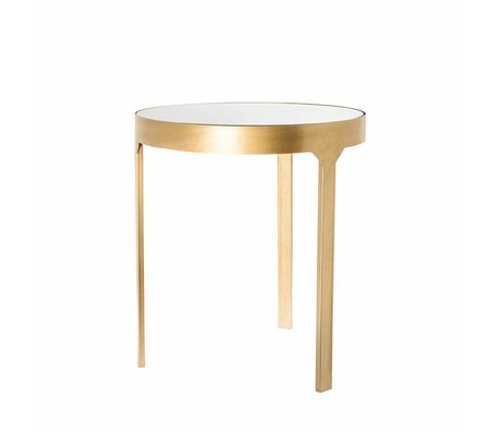 Riverdale Side table Amaro gold metal glass 45x45x50,5cm