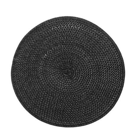 Riverdale Placemat braid black Ø38cm