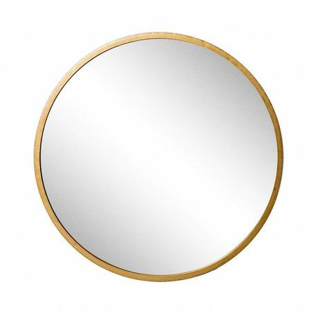 Riverdale Spejl Amaro rundt guld 2,5x90x90x90cm