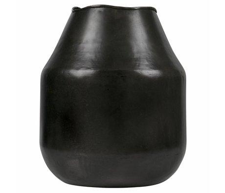 BePureHome Artistic vase l metall schwarzes silber
