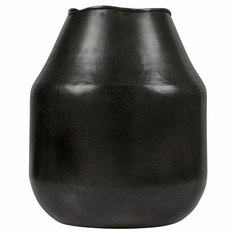 BePureHome Vase artistique l métal noir argent