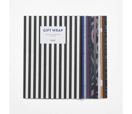 Ferm Living Wrapping Paper Book Arti multicolored paper 60x42cm