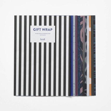 Ferm Living Geschenkpapier Buch Arti mehrfarbig Papier 60x42cm