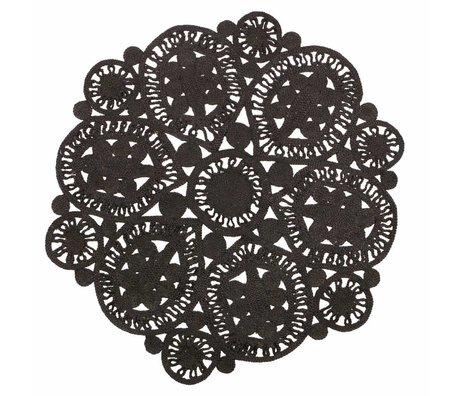 BePureHome Coaster tapis crochet noir