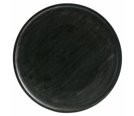 BePureHome Vassoio per dischi in legno marrone scuro