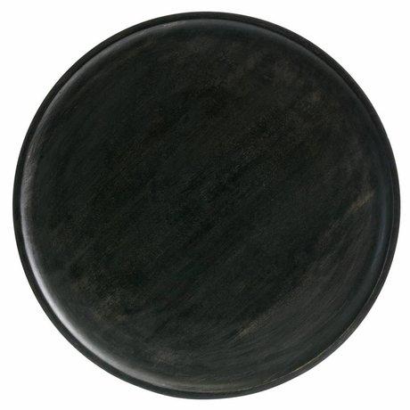 BePureHome Discus tablett m holz dunkel braun