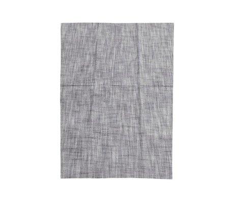 Housedoctor Torchon Polly gris coton bleu 70x50cm