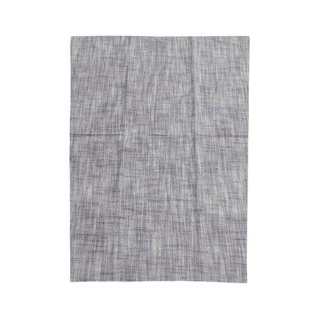 Housedoctor Paño de cocina Polly gris algodón azul 70x50cm