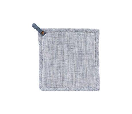 Housedoctor Agarraderas Polly algodón azul oscuro 21x21cm