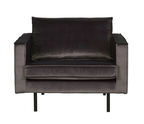 BePureHome Rodeo fauteuil velvet anthracite gray