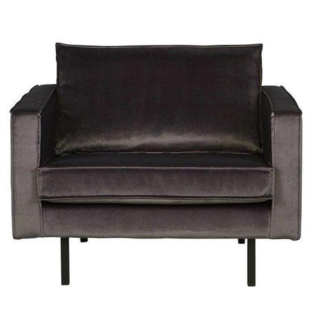 BePureHome Rodeo fauteuil fløjl antracit grå