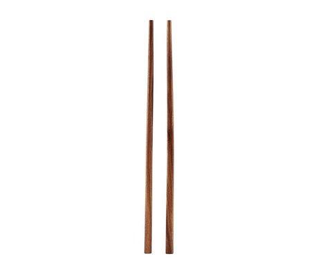 Housedoctor Spisepinde Akacie brunt træ 22,5cm