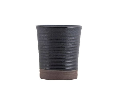 Housedoctor Tazza per caffè espresso colore 11 ceramica nera Ø4x5,5cm