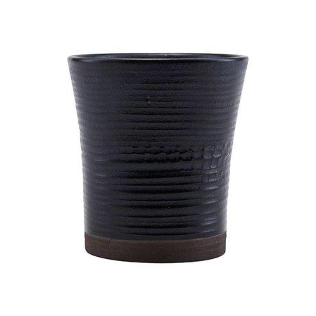 Housedoctor Colore della tazza 11 ceramica nera Ø8x9cm