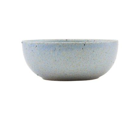Housedoctor Bol Diva gris céramique bleu Ø13,5cm