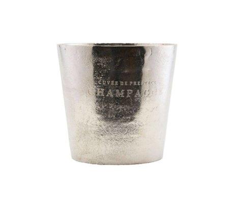 Housedoctor Weinkühler Cuvée Silberaluminium Ø23x22cm