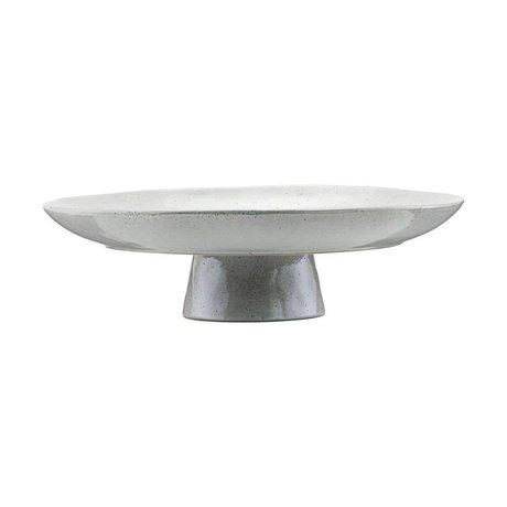 Housedoctor Assiette à gâteau gris ton bleu Ø32x8,3cm