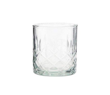Housedoctor Bicchiere da whisky Vetro trasparente vintage Ø8x9cm
