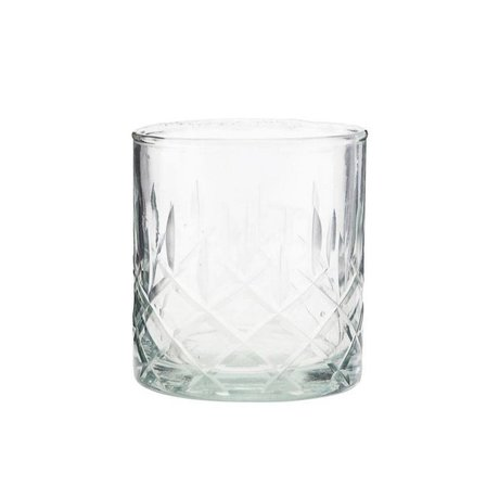 Housedoctor Whiskey glass Vintage transparent glass Ø8x9cm
