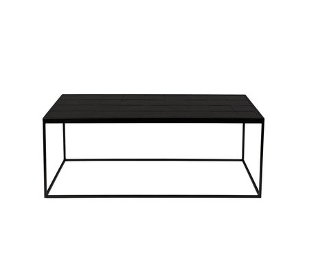 Zuiver Coffee Table Glazed Black Ceramic Metal 93x42,5x36cm
