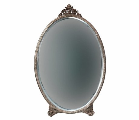 BePureHome Specchio ovale in metallo ottone anticato