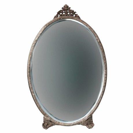 BePureHome Miroir posh ovale métal laiton antique