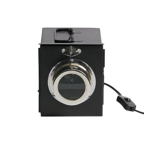 BePureHome Lampe de table à projecteur en métal noir