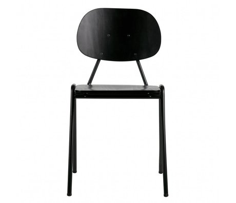 BePureHome Seminario escolar silla madera negro