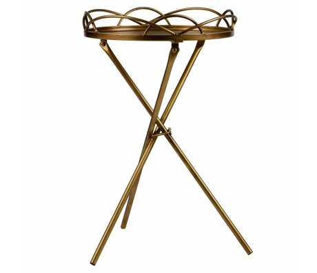 BePureHome Filmy side table metal brass