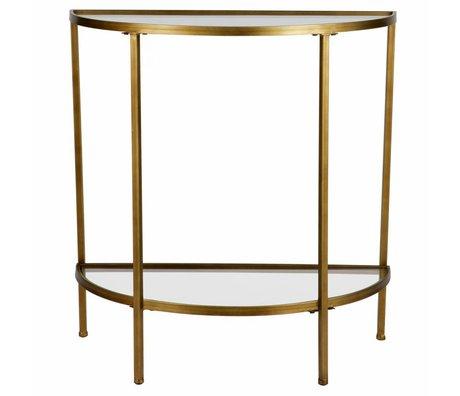 BePureHome Table d'appoint déesse laiton antique 75,5x37,5x75cm