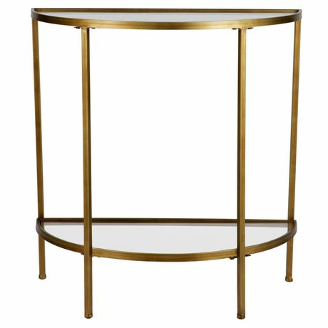 BePureHome Goddess sidetable antique brass 75.5x37.5x75cm