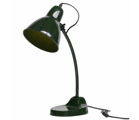 BePureHome Lámpara de mesa de obra maestra metal verde