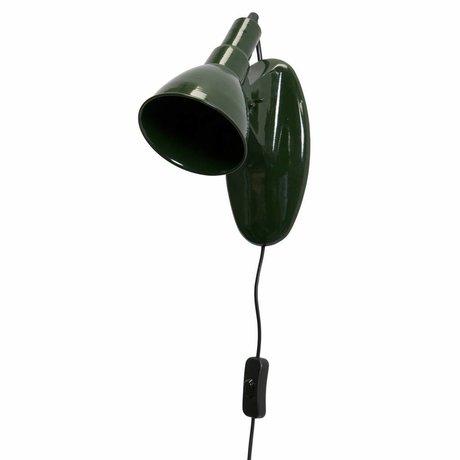 BePureHome Lámpara de pared obra maestra metal verde