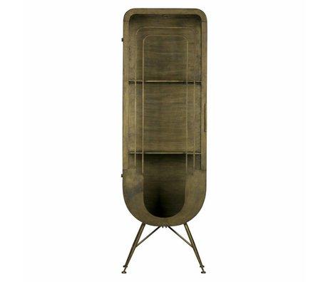 BePureHome Case Matrix 1-door antique brass gold metal 189x61x44cm