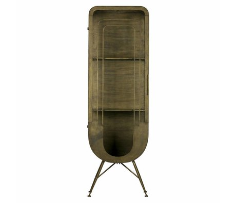 BePureHome Matrix metallschrank 1 türen antique brass