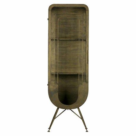 BePureHome Etui Matrix 1 porte laiton antique metal doré 189x61x44cm
