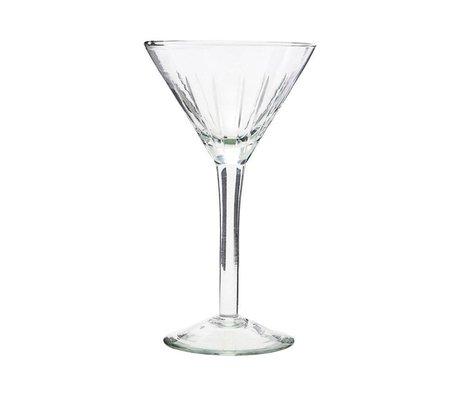 Housedoctor Bicchiere da cocktail in vetro trasparente vintage Ø11x19cm